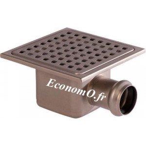 Siphon de Sol en Acier Inoxydable 150 x 150 x 80 mm Grille à Trous Carrés - EconomO.fr