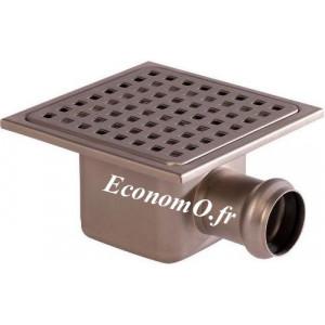 Siphon de Sol en Acier Inoxydable 150 x 150 x 80 mm Grille Vissée à Trous Carrés - EconomO.fr