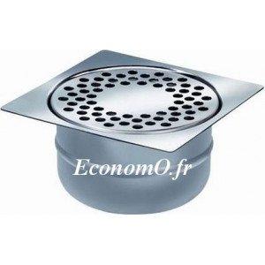 Siphon de Sol en Acier Inoxydable 150 x 150 x 76 mm Grille à Trous Rond - EconomO.fr