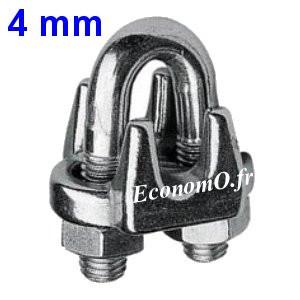 Serre-Câble Inox pour Suspension de Pompe par Câble ou Filin Inox de Ø 4 mm - EconomO.fr