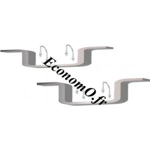 Kit Support Fixation Motopompe Aluminium pour Flotteur Universel H 105 mm - EconomO.fr