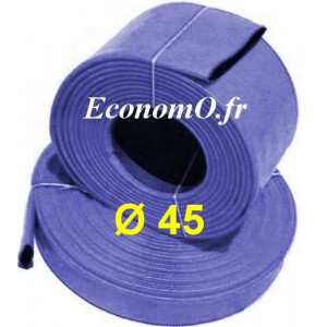 Tuyau de Refoulement pour Motopompe Ø 45 mm intérieur - Vendu par multiple de 5 mètres - EconomO.fr