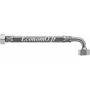 "Flexible Inox Femelle Femelle Coudé 3/4"" (20 x 27) Ø int. 20 mm Longueur 1000 mm - EconomO.fr"