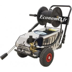 Nettoyeur Haute Pression Renson Eau Froide 200 bars à 0,9 m3/h max Triphasé 5,5 kW avec Arrêt Automatique et Enrouleur - EconomO