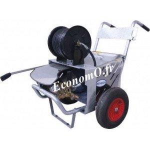 Nettoyeur Haute Pression Renson Eau Froide 150 bars à 1,26 m3/h max Triphasé 5,5 kW avec Arrêt Automatique et Enrouleur - Econom