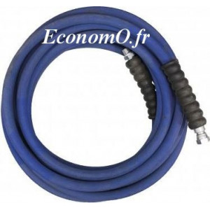 "Flexible Haute Pression 2SC-10 40 mètres Eau Chaude 2 Tresses 330 bar M 3/8"" x F 3/8"" - EconomO.fr"