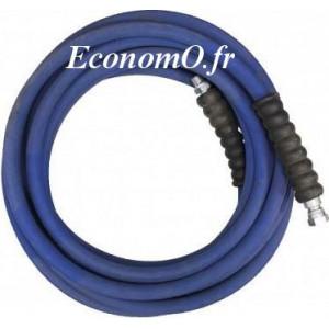 "Flexible Haute Pression 2SC-10 10 mètres Eau Chaude 2 Tresses 330 bar M 3/8"" x F 3/8"" - EconomO.fr"