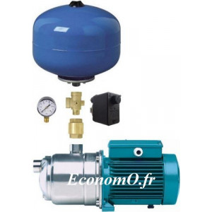 Surpresseur Calpeda K24S NGXM 2-80 de 0,3 à 3,2 m3/h entre 43 et 19,1 m HMT Mono 230 V 0,55 kW - EconomO.fr