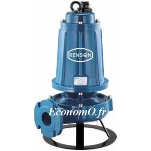 Pompe de Relevage Asperseur Renson de 4 à 54 m3/h entre 60 et 25 m HMT Tri 380 V 7,5 kW avec Coffret - EconomO.fr