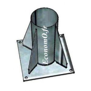 Puits de Potence à plat en Acier Galvanisé PTG 90 (pour potence PTG 120)