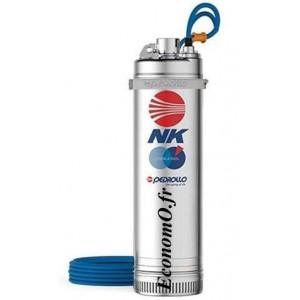 Pompe Immergée Pedrollo pour Puits NK 2/4 de 1,2 à 4,8 m3/h entre 59 et 31 m HMT Tri 400 V 0,75 kW