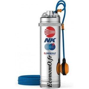 Pompe Immergée Pedrollo pour Puits NKm 2/3 GE avec Flotteur de 1,2 à 4,8 m3/h entre 44,5 et 23 m HMT Mono 220 240 V 0,55 kW