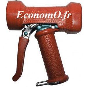 """Pistolet de Lavage Inox Revêtement EPDM Rouge Eco 95°C 24 bar 1/2"""" (15 x 21)"""
