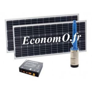 Pompe Immergée Solaire SUNNYPUMP KPS-100-23-2-200 de 1,1 à 2,75 m3/h entre 18 et 1 m HMT 0,15 kW - EconomO.fr