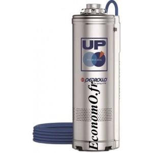 Pompe Immergée Pedrollo pour Puits UP 4/3 de 2,4 à 7,2 m3/h entre 37 et 12 m HMT Tri 400 V 0,55 kW