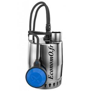 Pompe de Relevage Grundfos UNILIFT KP 250 A 1 de 2 à 10,6 m3/h entre 7 et 1 m HMT Mono 220 240 V 0,48 kW avec 5 m de Câble et Fl