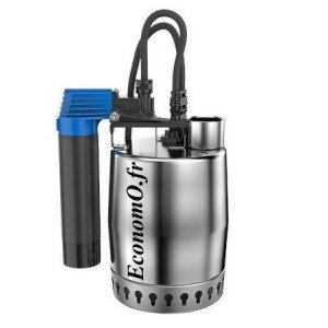Pompe de Relevage Grundfos UNILIFT KP 350 AV 1 de 2 à 14 m3/h entre 8,3 et 1,3 m HMT Mono 220 240 V 0,7 kW avec 10 m de Câble et