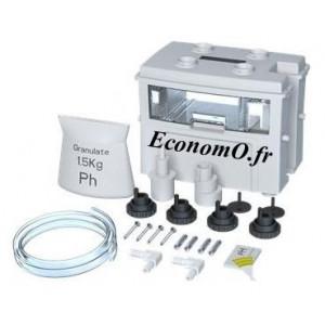 Bac Réserve Neutralisant Grundfos pH+ box Conlift avec 1,2 kg Granulat, Raccords et Indicateur pH - EconomO.fr