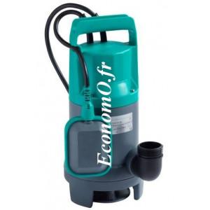 Pompe de Relevage Wilo Initial WASTE 16-11 de 2 à 16,5 m3/h entre 10,1 et 2,8 m HMT Mono 230 V 0,75 kW - EconomO.fr