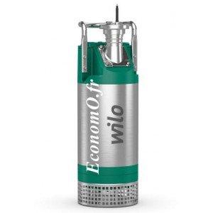 Pompe de Relevage Wilo Padus PRO M05/T015-540/O de 2 à 35 m3/h entre 15,5 et 2 m HMT Tri 400 V 1,5 kW - EconomO.fr