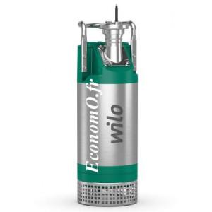 Pompe de Relevage Wilo Padus PRO M05/T025-540/O de 2 à 57 m3/h entre 21 et 2 m HMT Tri 400 V 2,5 kW - EconomO.fr