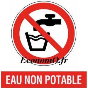 "4 Autocollants ""Eau Non Potable"" - EconomO.fr"