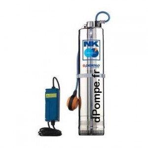 Pompe Immergée Pedrollo pour Puits NKm 4/5 à Flotteur avec Coffret de 1,2 à 7,2 m3/h entre 101 et 44 m HMT Mono 220/240 V 2,2 kW