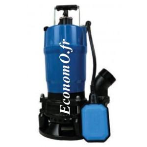Pompe de Chantier Tsurumi HSDA2-55S de 1 à 13 m3/h entre 12,5 et 1,5 m HMT Mono 230 V 0,55 kW avec Flotteur