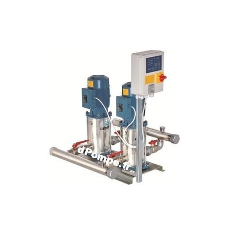Surpresseur a vitesse Fixe BS2F 2MXVB 25-205 Calpeda 1 a 8 m3/h entre 53 et 28 m HMT 400 V 2 x 0,75 kW - EconomO.fr