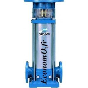 Hydraulique de Pompe de Surface Multicellulaire Verticale Inox 304 MXV 50-1607 Calpeda 7,5 kW de 8 à 24 m3/h entre 114 et 47 m H