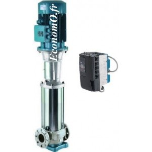Pompe Multicellulaire Verticale Calpeda MXVL EI 100-6501 Inox 316 avec IMAT de 30 à 85 m3/h entre 25 et 16,5 m HMT 5,5 kW 400-69