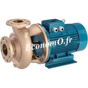 Pompe de Surface Bronze Calpeda BNM4 32-20A à Brides 2,4 à 13,2 m3/h entre 14,3 et 7,5 m HMT Tri 230-400 V 0,75 kW - EconomO.fr