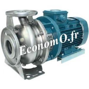 Pompe de Surface Calpeda Inox 304 NMSX4 40-125/A de 6 à 21 m3/h entre 6,3 et 3,4 m HMT Tri 400-690 V 0,37 kW - EconomO.fr