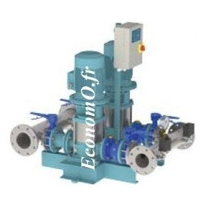 Surpresseur Calpeda S20 VF MXV50-1605 2 Pompes 8 à 48 m3/h entre 81 et 33 m HMT Tri 400 V 2 x 5,5 kW - EconomO.fr