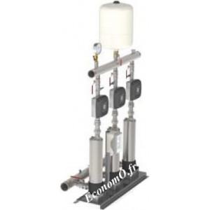 Surpresseur Calpeda S30 EMT MXSU404 3 Pompes à Vitesse Variable de 2,5 à 24 m3/h entre 39 et 13 m HMT Tri 230 V 3 x 0,9 kW - Eco