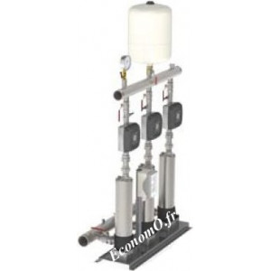 Surpresseur Calpeda S30 EMT MXSU405 3 Pompes à Vitesse Variable de 2,5 à 24 m3/h entre 48 et 15 m HMT Tri 230 V 3 x 1,1 kW - Eco