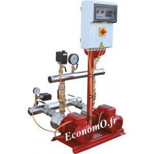 Surpresseur Incendie Calpeda 2 Pompes S11 INC MXH1602 de 5 à 25 m3/h entre 23 et 6,5 m HMT Tri 400 V 2 x 1,5 kW - EconomO.fr