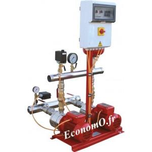 Surpresseur Incendie Calpeda 2 Pompes S11 INC MXH802 de 5 à 13 m3/h entre 20,5 et 8,5 m HMT Tri 400 V 2 x 0,75 kW - EconomO.fr