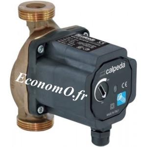 Circulateur Eau Chaude Calpeda NCE ES 15-40/130 Fileté 0,5 à 3,3 m3/h entre 3,8 et 0,4 m HMT Mono 230 V Entraxe 130 mm - EconomO